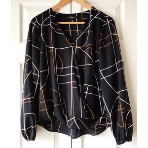 Abstract blouse by Alfani